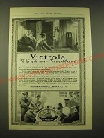 1918 Victor Victrola Ad - Victrola The life of the home - the joy of the camp