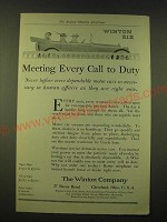 1918 Winton Six Ad - Meeting Every Call to Duty