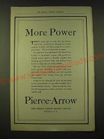 1918 Pierce-Arrow  Ad - More Power