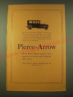 1918 Pierce-Arrow  Ad - Every Pierce-Arrow assures a permanency of service