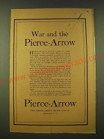 1918 Pierce-Arrow  Ad - War and the Pierce-Arrow