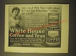 1918 Dwinell-Wright White house coffee and teas Ad - And a can of White house