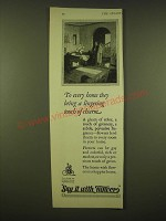 1924 Say it With Flowers Ad - They bring a lingering touch of charm