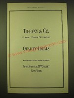 1924 Tiffany & Co. Ad - Jewelry Pearls Silverware Quality - Ideals