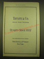 1924 Tiffany & Co. Ad - Jewelry Pearls Silverware Quality - Since 1837
