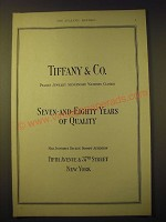 1924 Tiffany & Co. Ad - Seven-and-Eighty Years of Quality