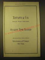 1924 Tiffany & Co. Ad - Quality Time-Tested