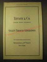 1924 Tiffany & Co. Ad - Quality through Generations