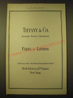 1924 Tiffany & Co. Ad - Paris - London