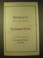 1924 Tiffany & Co. Ad - Time-Honored Quality