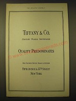 1924 Tiffany & Co. Ad - Quality Predominates