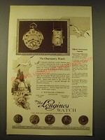 1924 Longines Observatory Watch Ad - Official Government Awards