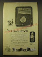 1924 Hamilton Watches Ad - For Graduation