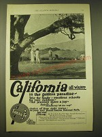 1924 Santa Fe Railroad Ad - California all winter is the golfers paradise