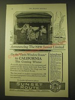 1924 Southern Pacific Lines Railroad Ad - Announcing the new Sunset Limited