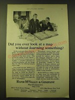 1924 Rand McNally & Company Maps Ad - Did you ever look at a map without