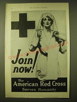 1924 The American Red Cross Ad - Join now! Serves Humanity