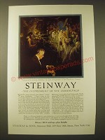 1924 Steinway Pianos Ad - Friedman at his Steinway
