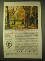 1924 Davey Tree Expert Co. Ad - Davey Tree Surgeons are local to you