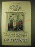 1924 Hartmann Trunk Company Ad - The world-wide recognition of this name