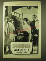1924 Oshkosh Wardrobe Trunks Ad - First impressions are made as often on things