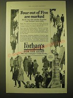 1924 Forhan's for the Gums Toothpaste Ad - Four out of Five are marked
