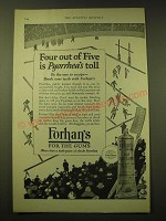1924 Forhan's For the Gums Toothpaste Ad - Four out of Five is Pyorrhea's Toll
