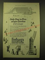 1924 Forhan's For the Gums Toothpaste Ad - Only one in Five escapes Pyorrhea
