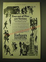 1924 Forhan's For the Gums Toothpaste Ad - Four out of Five are victims