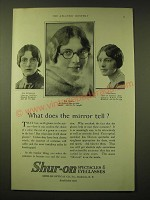 1924 Shur-On Optical Spectacles & Eyeglasses Ad - What does the mirror tell?