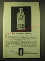 1924 Lambert Pharmacal Company Listerine Ad - Check sore throat this way