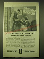 1924 Lambert Pharmacal Company Listerine Ad - If you don't believe it