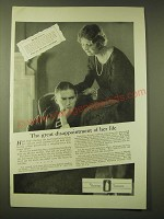 1924 Lambert Pharmacal Company Listerine Ad - The great disappointment