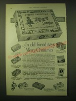 1924 Whitman's Sampler Chocolates Ad - An old friend says Merry Christmas