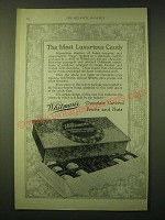 1924 Whitman's Chocolate Covered Fruits and Nuts Ad - The most luxurious candy