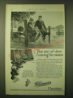 1924 Whitman's Salmagundi Chocolates Ad - That out-of-door craving for sweets