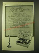 1924 Whitman's Sampler Chocolates Ad - Started in 1842 Whitman's Sampler