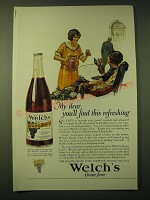 1924 Welch's Grape Juice Ad - art by Edmund Davenport