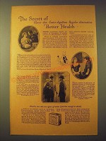 1924 Fleischmann's Yeast Ad - The secret of clearer skin easier digestion
