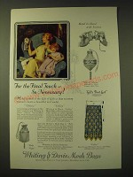 1924 Whiting & Davis Mesh Bags Ad - For the final touch - so necessary
