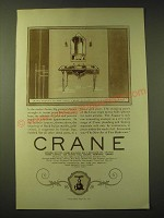 1924 Crane Bath Fixtures Ad - Neumar lavatory and Globe Valve No. 1-B