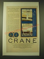 1924 Crane Bath Fixtures Ad - Kitchen Sink, Nova Lavatory, Globe Valve