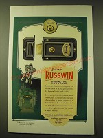 1924 Russwin Night Latch Ad - Russwin Distinctive Hardware