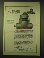 1924 Russwin Door Checks Ad - Russwin Distinctive Hardware
