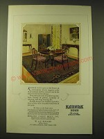 1924 Karnak Rugs Ad - Karnak rugs give to the home an atmosphere