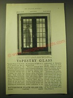 1924 Pittsburgh Plate Glass Co. Ad - Tapestry glass