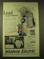 1924 Western Electric Ad - Lead - in your telephone