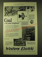 1924 Western Electric Ad - Coal - in your telephone