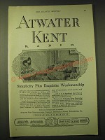 1924 Atwater Kent Radio Ad - Simplicity plus exquisite workmanship