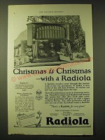 1924 RCA Radiola X Radio Ad - Christmas is Christmas with a Radiola